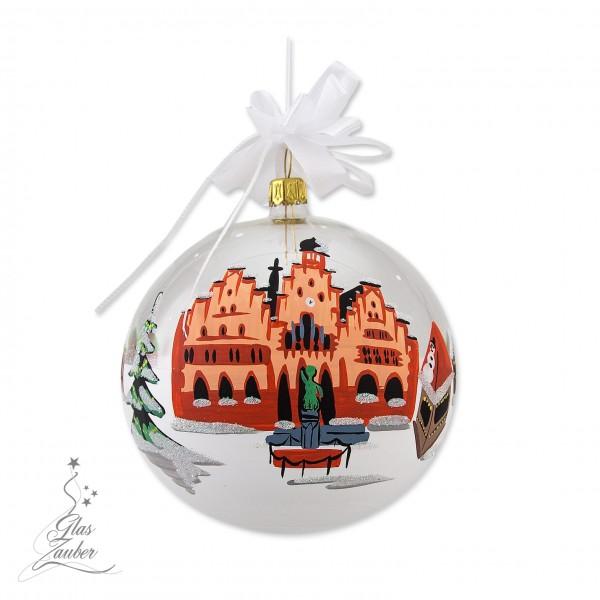 """Glaskugel """"Weihnachtsmarkt Frankfurt"""" Sonderkugel 2015"""