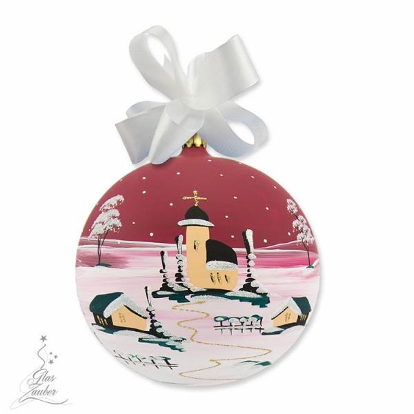 Weihnachtskugel aus Glas - ø 14 cm - Weihnachtsrot