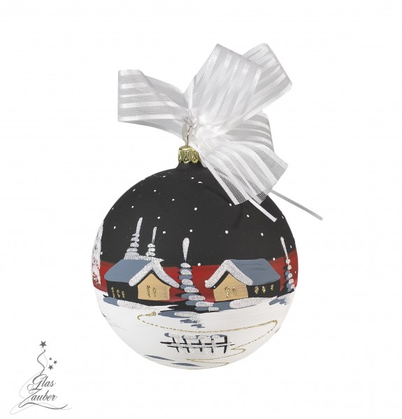 Christbaumkugel aus Glas - ø 10 cm - Blackrosé