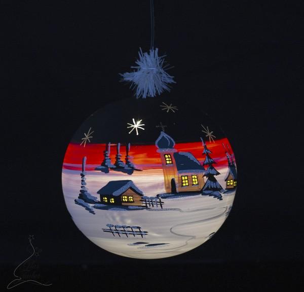 Glaskugel mit LED Beleuchtung