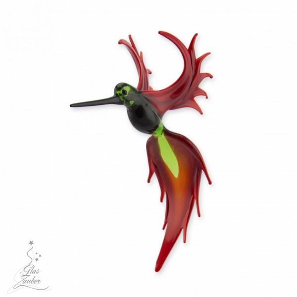 Fliegender Paradiesvogel aus Glas