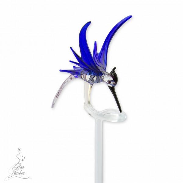 "Orchideenstab aus Glas ""Kolibri"""