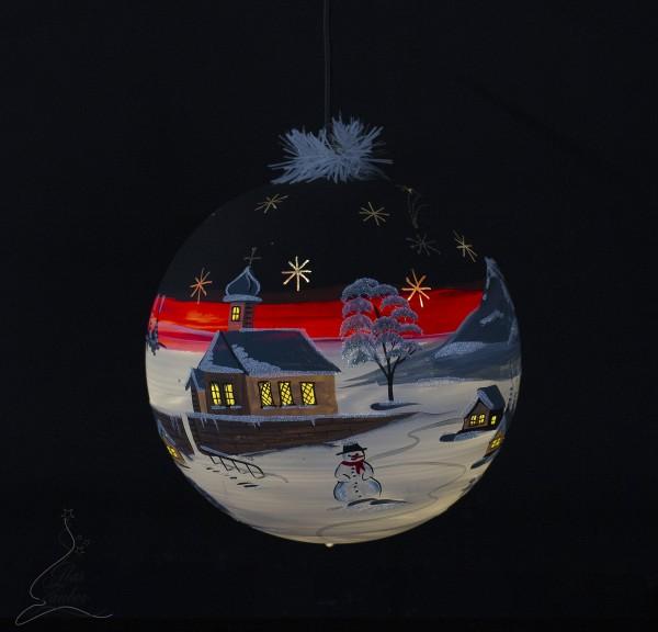 beleuchtetet Weihnachtskugel LED
