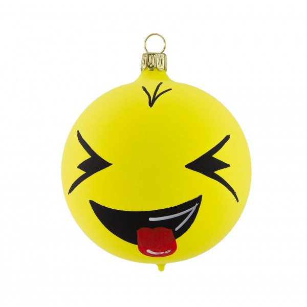 "Smiley ""Lach"" Glas Kugel 8cm"