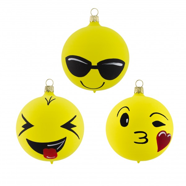 Emoji Kugel Set