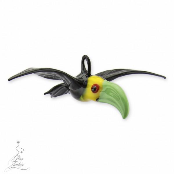 Fliegender Tukan aus Glas