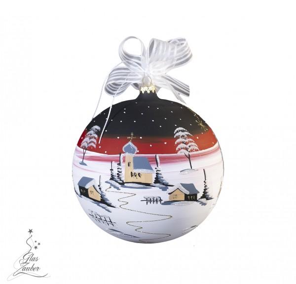 Weihnachtskugel aus Glas - ø 14 cm - Blackrosé