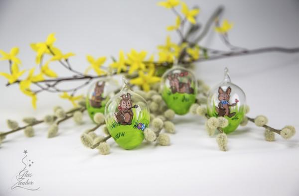 Ostereier aus Glas - Osterhasen